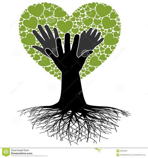 family tree hand stock vector image 68325922