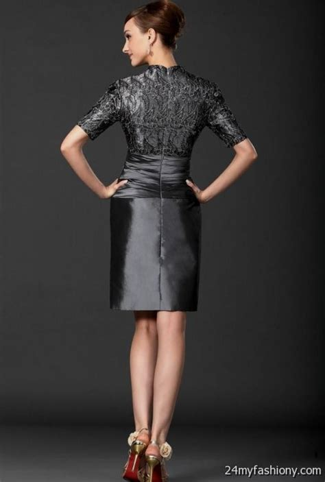 mother of the bride dresses knee length gray 2016 2017   B2B Fashion
