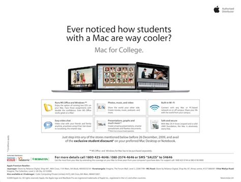 Oasis Student Exclusive Offers by Apple India Student Offer Creating Mac Envy Bhatnaturally