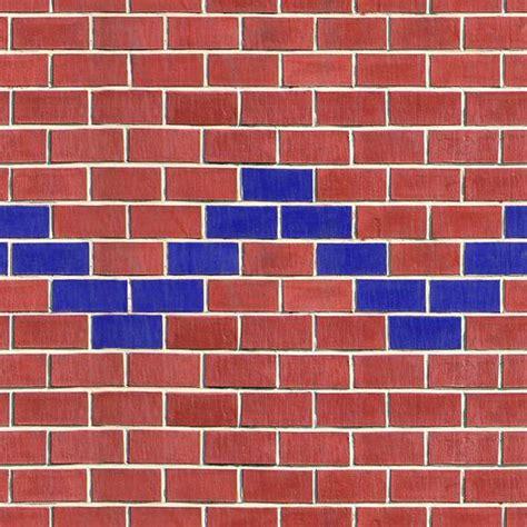 zigzag brick pattern brown brick texture blue zigzag pattern
