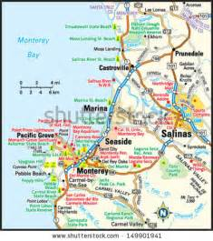 map of monterey california salinas map stock photos images pictures