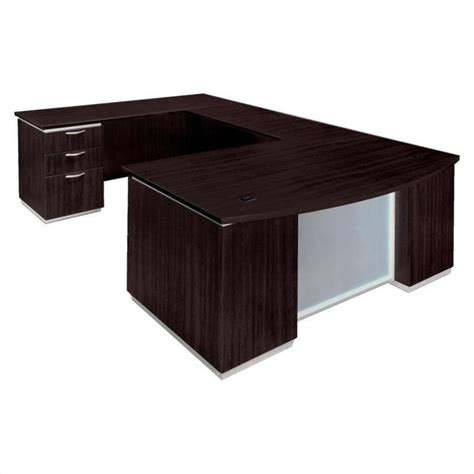 office desk delivered assembled flexsteel pimlico u shaped executive desk assembled