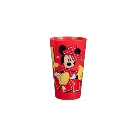 bicchieri per rosso bicchiere plastica minnie rosso 450 ml dimensionegift