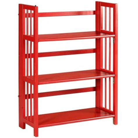 Home Decorators Collection Multimedia Storage 27 5 In W Folding Stacking Bookshelves