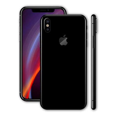 F X Black iphone x jet black high gloss skin wrap decal easyskinz