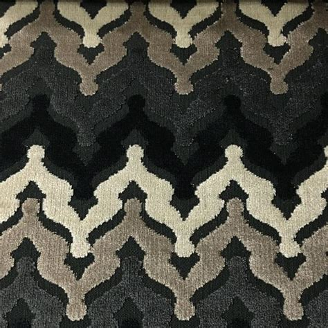 upholstery fabric patterns lennon chevron pattern cut velvet upholstery fabric by