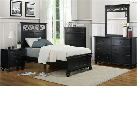 dreamfurniture 2119tb sanibel bedroom set black