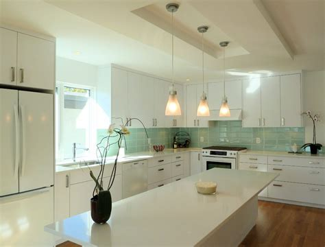 Ceiling Tiles Vancouver by Vancouver Modern Kitchen Backsplash With White Island