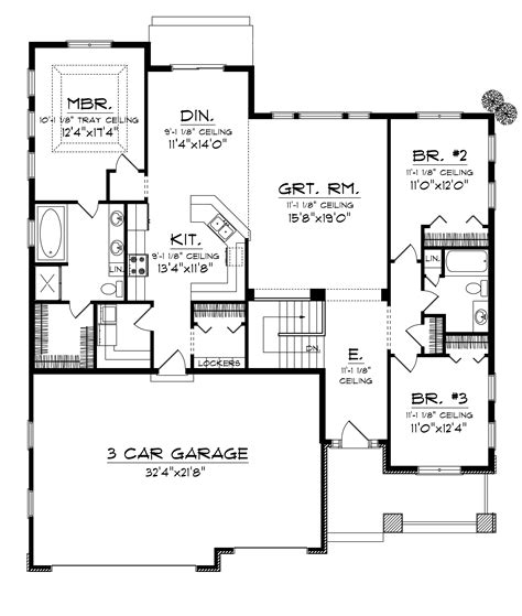cadford traditional ranch home plan 051d 0678 house