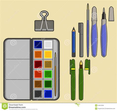 simple drawing tool drawing tools stock vector image 54610338