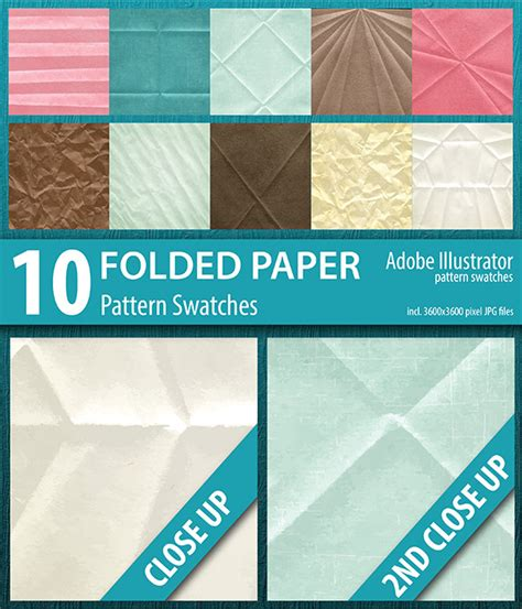 newspaper pattern ai 10 folded paper texture pattern swatches by