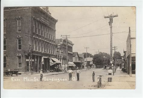 Morrow Post Office by Post Office Cardington Oh Ohio Rppc