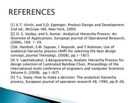 layout design using the analytic hierarchy process analytical hierarchy process for design selection of micro