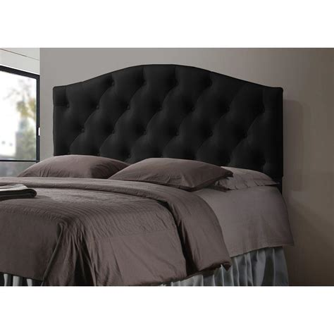 Upholstered Black Headboard Baxton Studio Myra Contemporary Black Faux Leather Upholstered Size Headboard 28862 6426