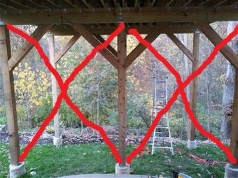 how to fix a swy backyard help with sway in a tall and long deck doityourself com