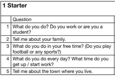preguntas en ingles mas usadas examen de nivel de ingl 233 s secci 243 n speaking preguntas