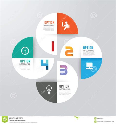 workflow graphics modern infographics design options banner vector
