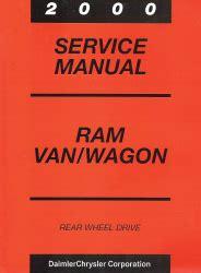 2000 dodge ram van wagon service manual