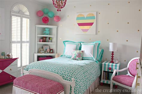 little girl s room reved to bright and bold tween room