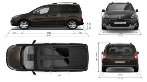 peugeot partner dimensions the van like peugeot partner tepee with up to seven seats