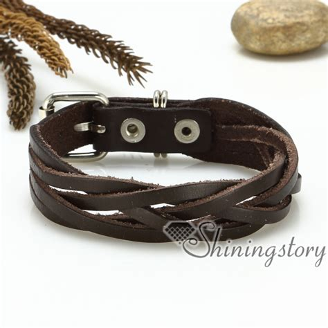 Handmade Leather Wristbands - genuine leather wristbands bracelets multi layer wrap