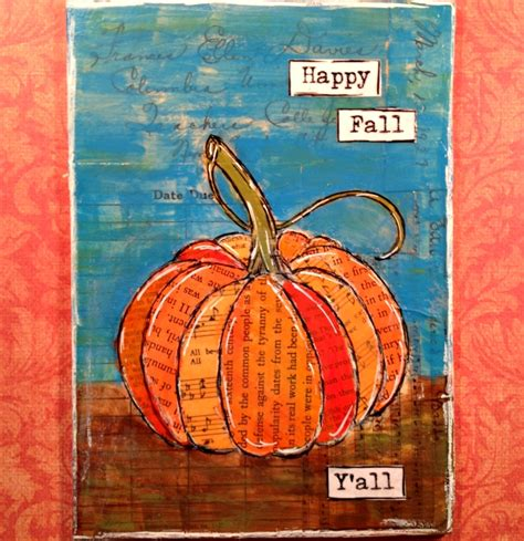 how to paint autumn egret painting packet books mixed media pumpkin project for fall real at home