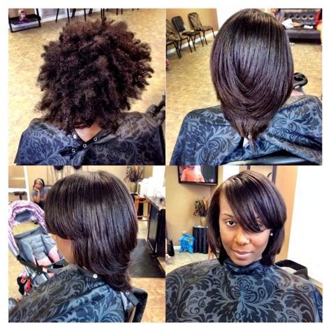 dominican blowout on natural short hair blow out silk press beautiful black hair pinterest