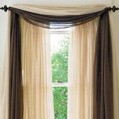 How To Hang Curtain Scarves 1000 Images About Living Room Curtains On Pinterest