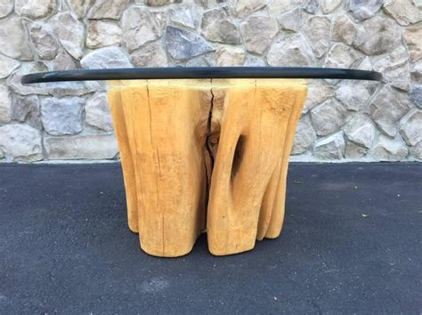 Cypress Stump Coffee Table Cypress Wood Tree Trunk Coffee Table For Sale At 1stdibs