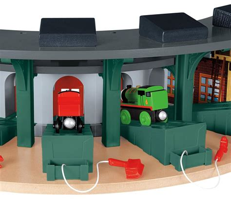 And Friends Tidmouth Sheds Deluxe Set by Fisher Price The Wooden Railway Deluxe Roundhouse Toys