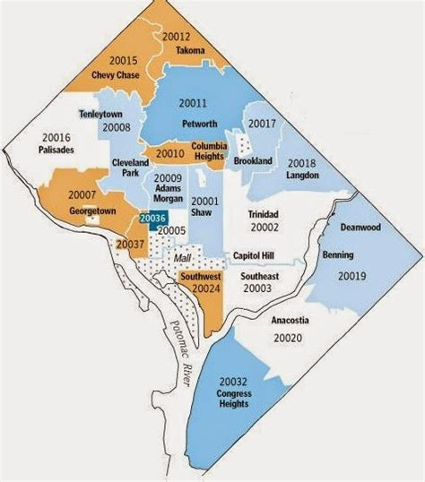 dc zip code map dc zip code map map3
