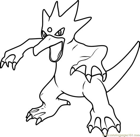 Pokemon Coloring Pages Golduck | pokemon mega golduck images pokemon images