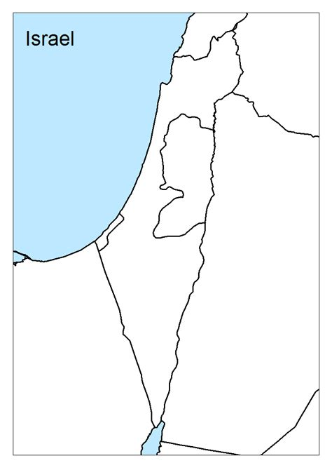 Blank Map Israel Printable maps of israel geolounge all things geography