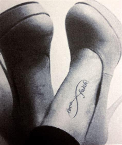 Infinity Faith Tattoo On Foot