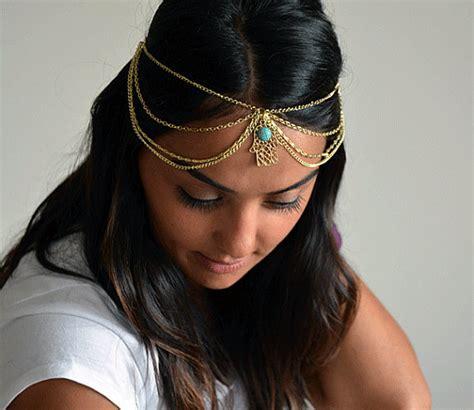 Vintage Bridal Hair Chain by Wedding Hair Chain Vintage Hair Tiara Caroline Bohemian