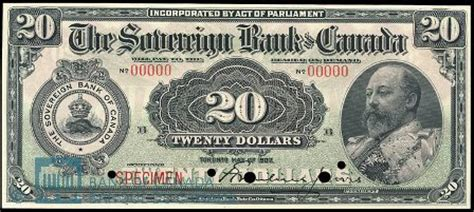 the sovereign bank of canada in toronto banknote values
