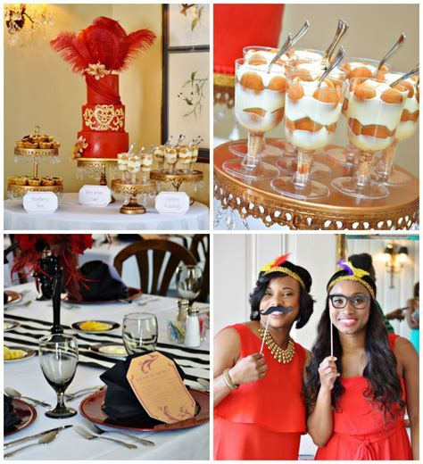 Kara's Party Ideas Harlem Renaissance Themed Bridal Shower