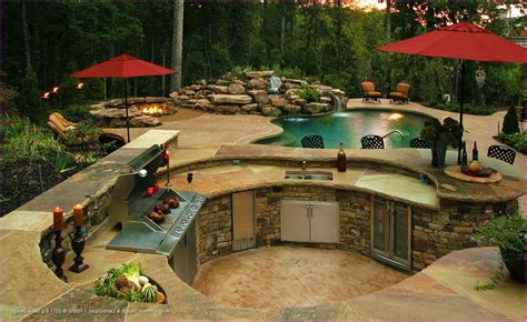 outdoor kitchen designs with pool 12 best choice of backyard designs with pool and outdoor