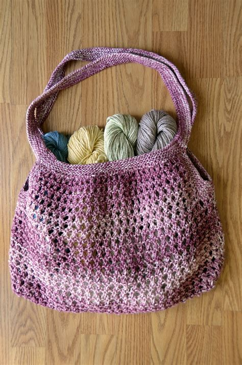 pattern for yarn bag free pattern friday knit and crochet market bags