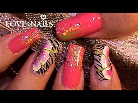fotos de uñas pintadas a mano flor a mano alzada decoracion de u 241 as youtube
