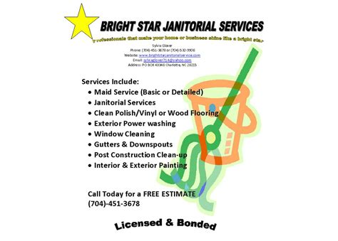 janitorial flyer templates commercial cleaning flyer template pictures