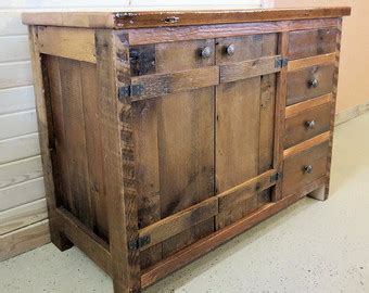 Distressed Island Kitchen reclaimed barn wood kitchen island with wooden top
