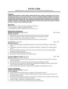 Anticoagulation Pharmacist Cover Letter by Sle Resume For Pharmacist Pharmacy Technician Resume Exles Sle Resumes