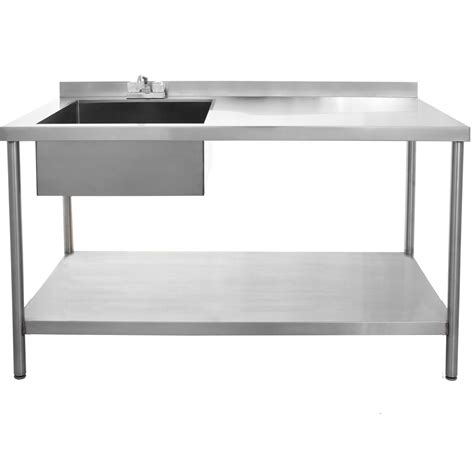 bbqguys 30x60 stainless steel utility table with sink