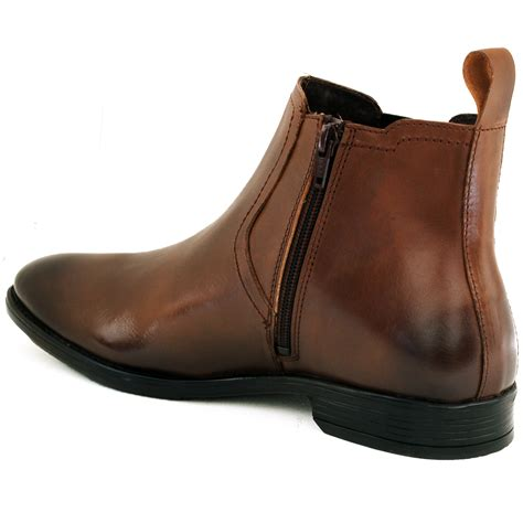 comfortable mens dress boots mens chelsea boots slip on ankle loafers leather comfort