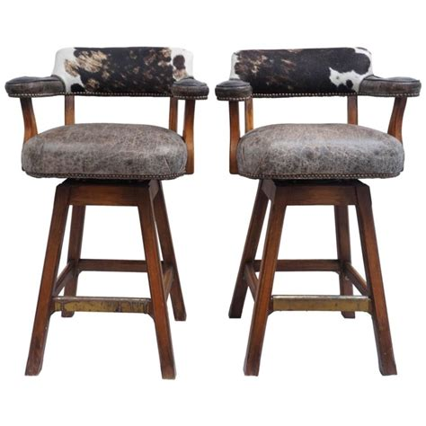 cowhide bar stools nz furniture swivel cow skin bar stools with arms and backs