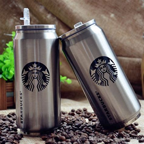 Terlaris Tumbler Starbucks Stainless Steel Termos Botol 500ml 2016 new 500ml starbuck beverage can stainless steel starbucks mugs with straws vs yeti tumbler