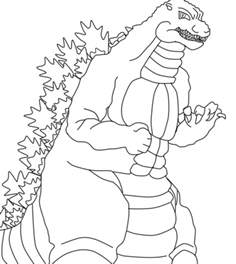 godzilla coloring pages heisei godzilla lineart by 1lovedrew on deviantart