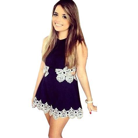 Minidress Renda cut out lace mini dress summer dress waist mini dress casual vestido de renda vestidos