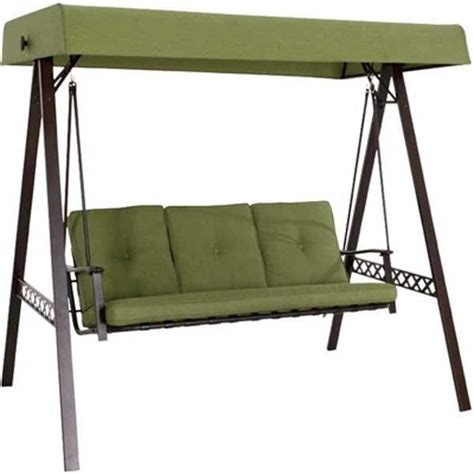 Garden Treasures 3 Seat Steel Casual Porch Swing garden treasures 3 seat steel green casual porch swing